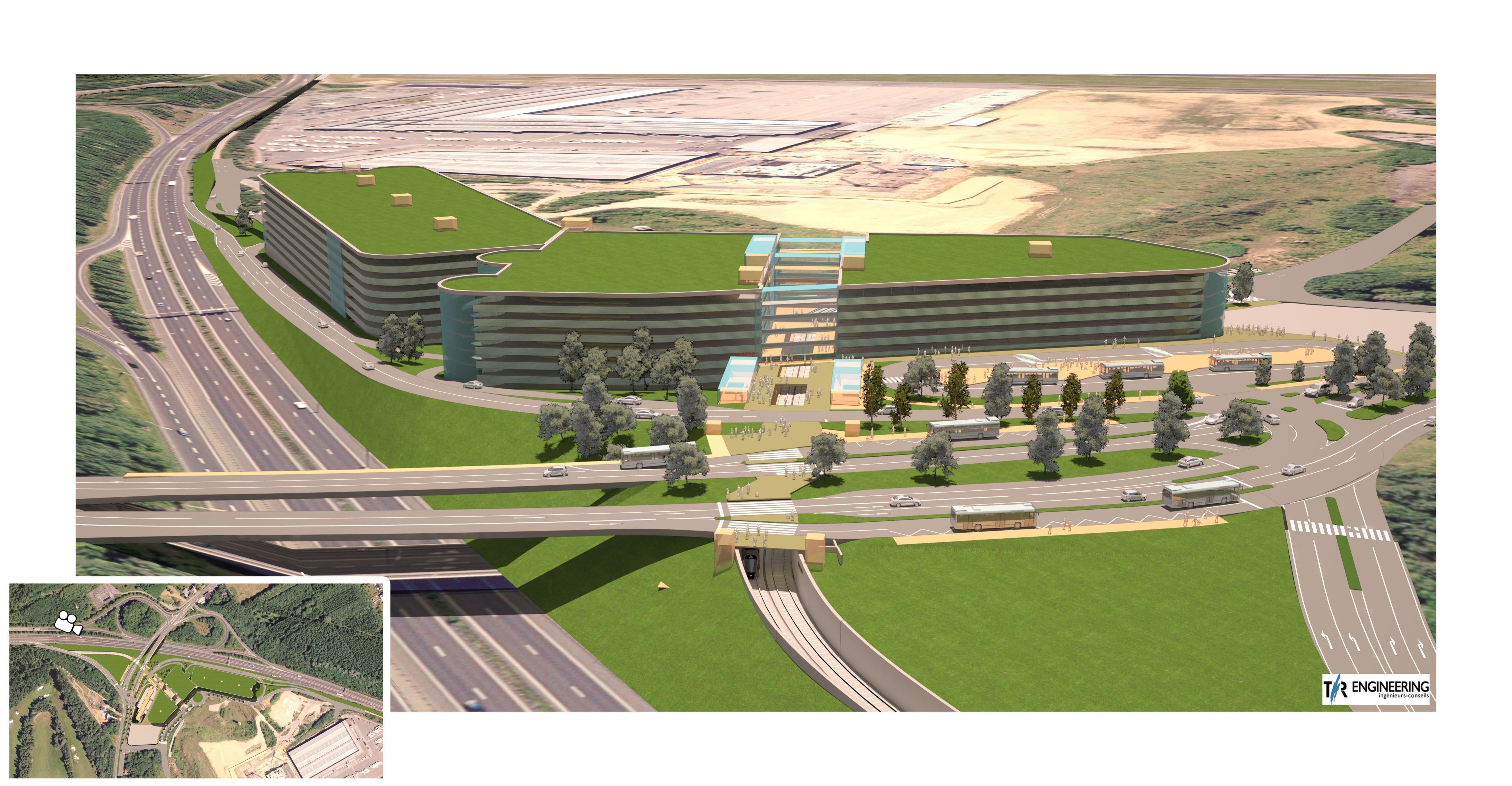 Le futur P+R Héienhaff doit accueillir 4.000 places, étalées sur six niveaux.