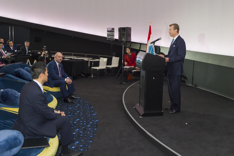 Discours d'ouverture de la Space conference par S.A.R. le Grand-Duc