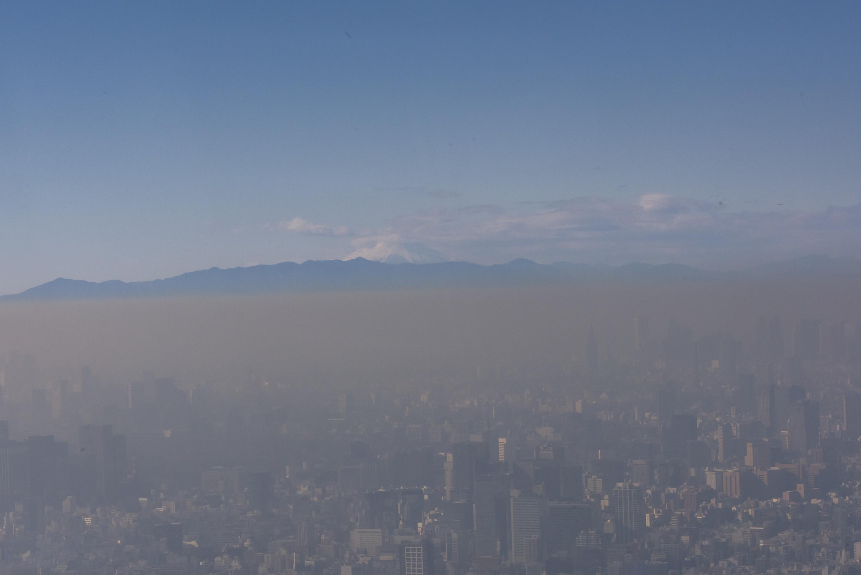 Vue du Mont Fuji depuis le Skytree (à 450m de hauteur)