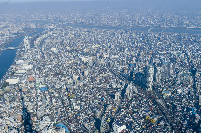 Vue de Tokyo depuis le Skytree (à 450m de hauteur)