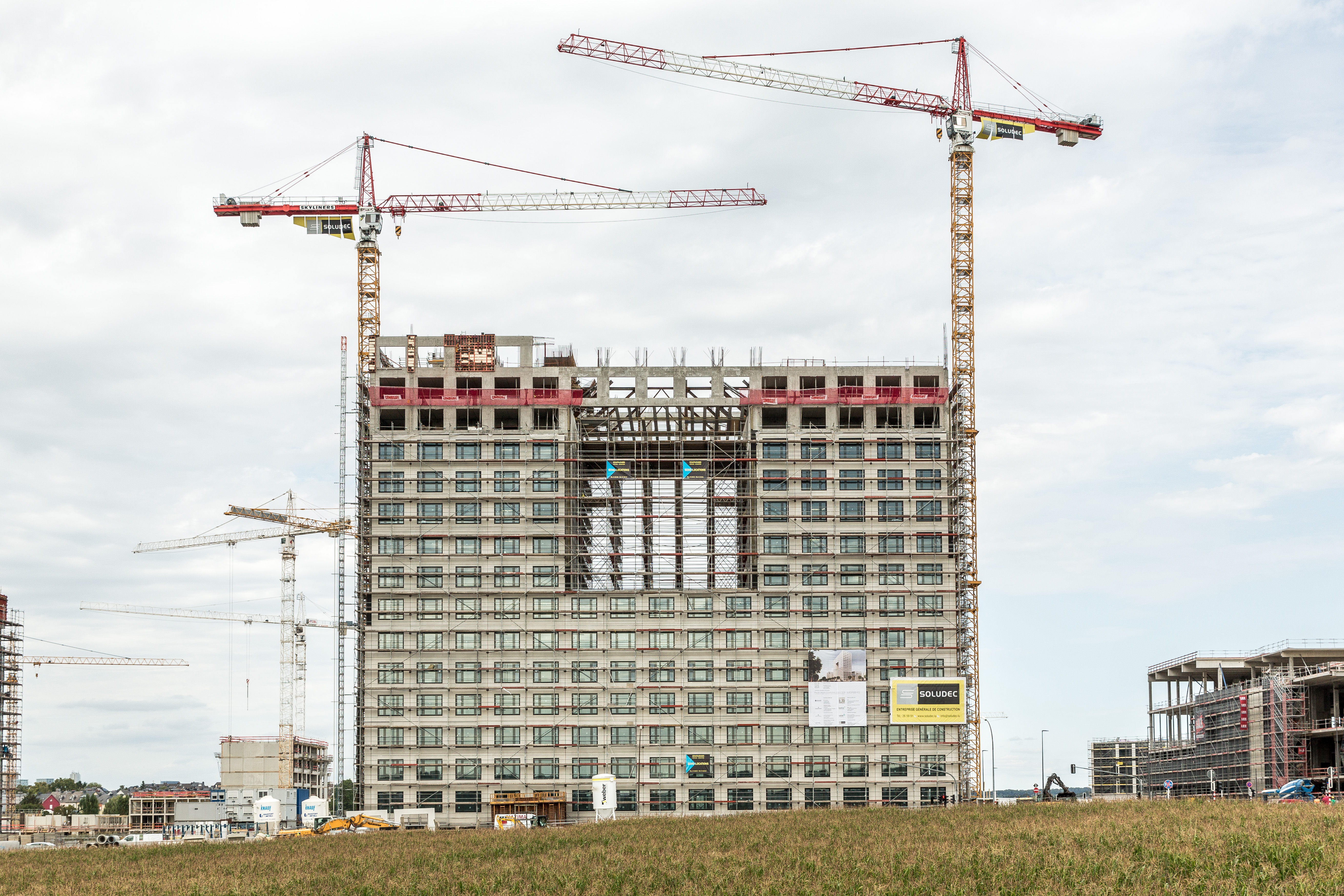 Le futur bâtiment de Deloitte, livré en octobre 2018, doit devenir l'une des signatures visuelles du nouveau quartier. (Photo: Maison Moderne)