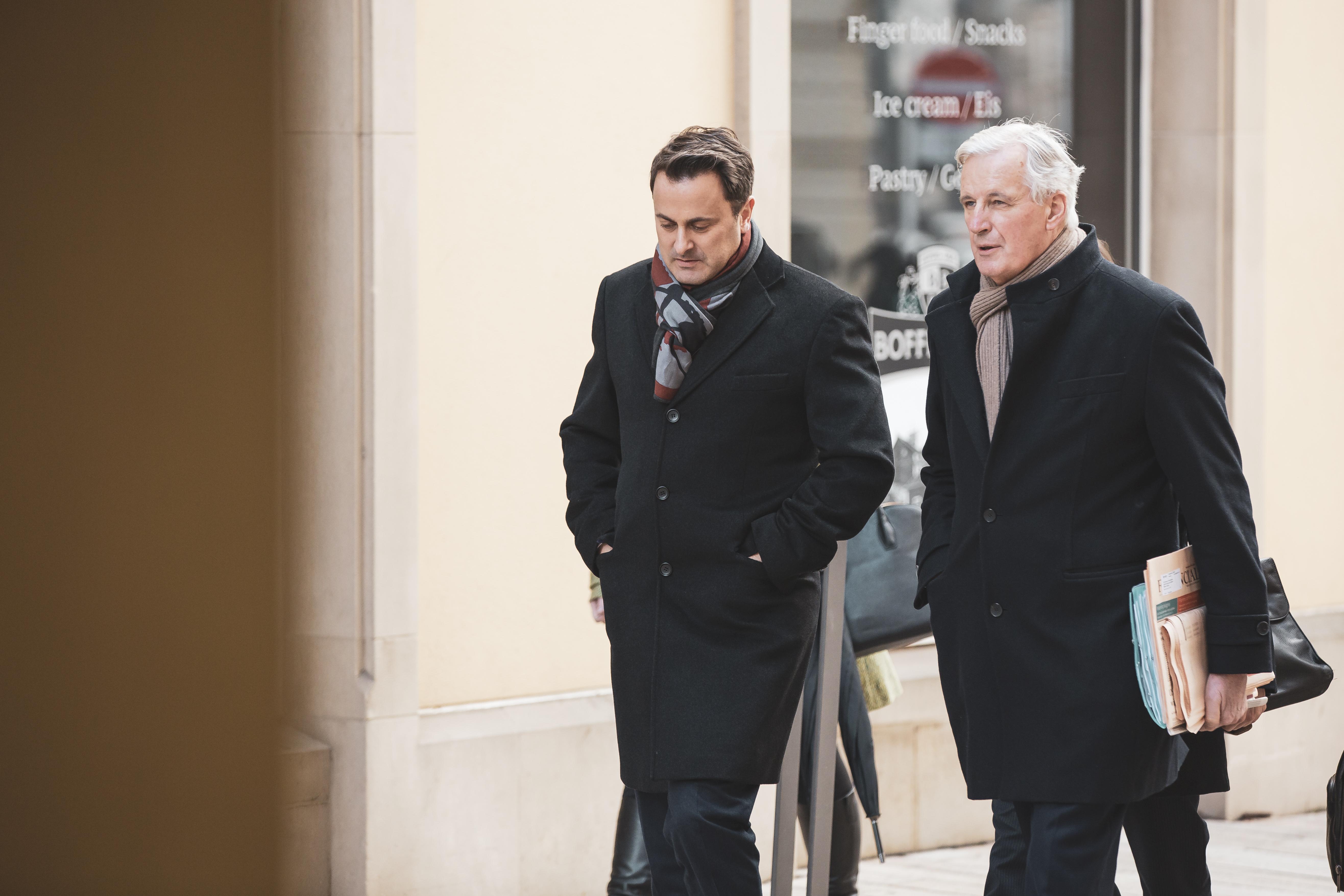Xavier Bettel, Premier ministre et Michel Barnier, négociateur en chef de l'UE