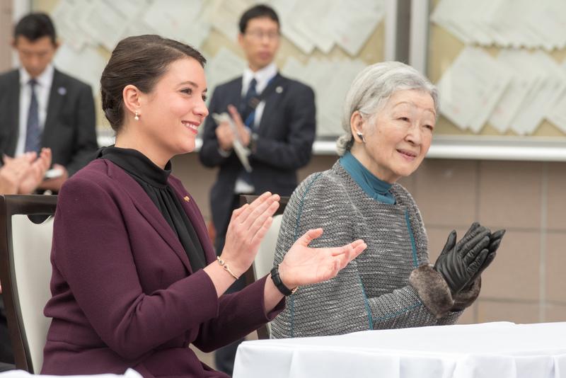 S.A.R. la princesse Alexandra et S.M. l'impératrice du Japon