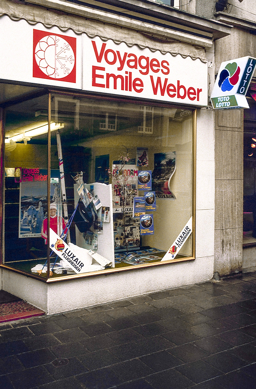 La première agence de voyages du groupe à Luxembourg-ville en 1972.