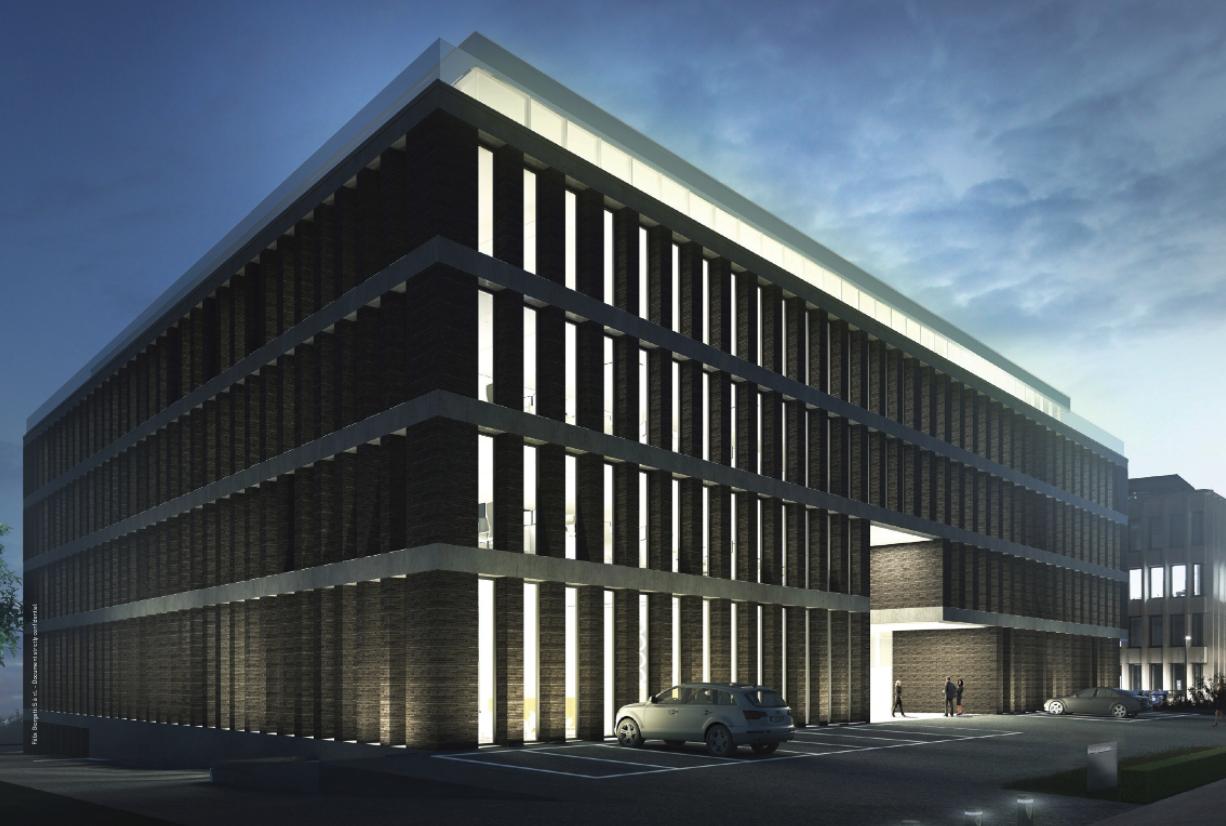 Le bâtiment Moonlight, propriété du groupe Giorgetti, doit être livré fin 2018. (Illustration: cabinet d'architectes Jim Clemes)