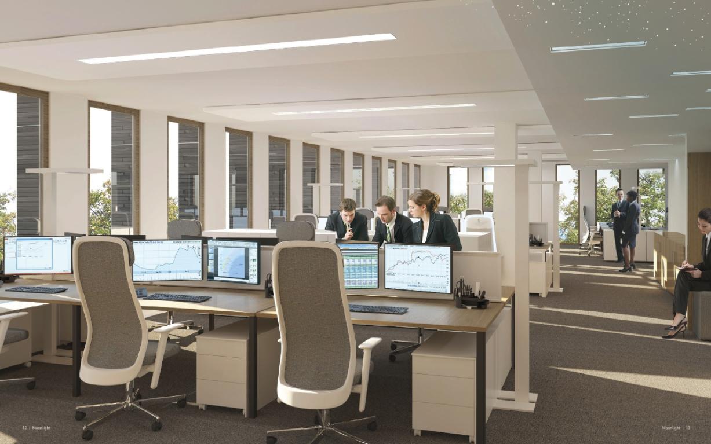 Haut de quatre étages, l'immeuble de bureaux sera occupé sur plus de la moitié de sa surface par la CSSF. (Illustration: cabinet d'architectes Jim Clemes)