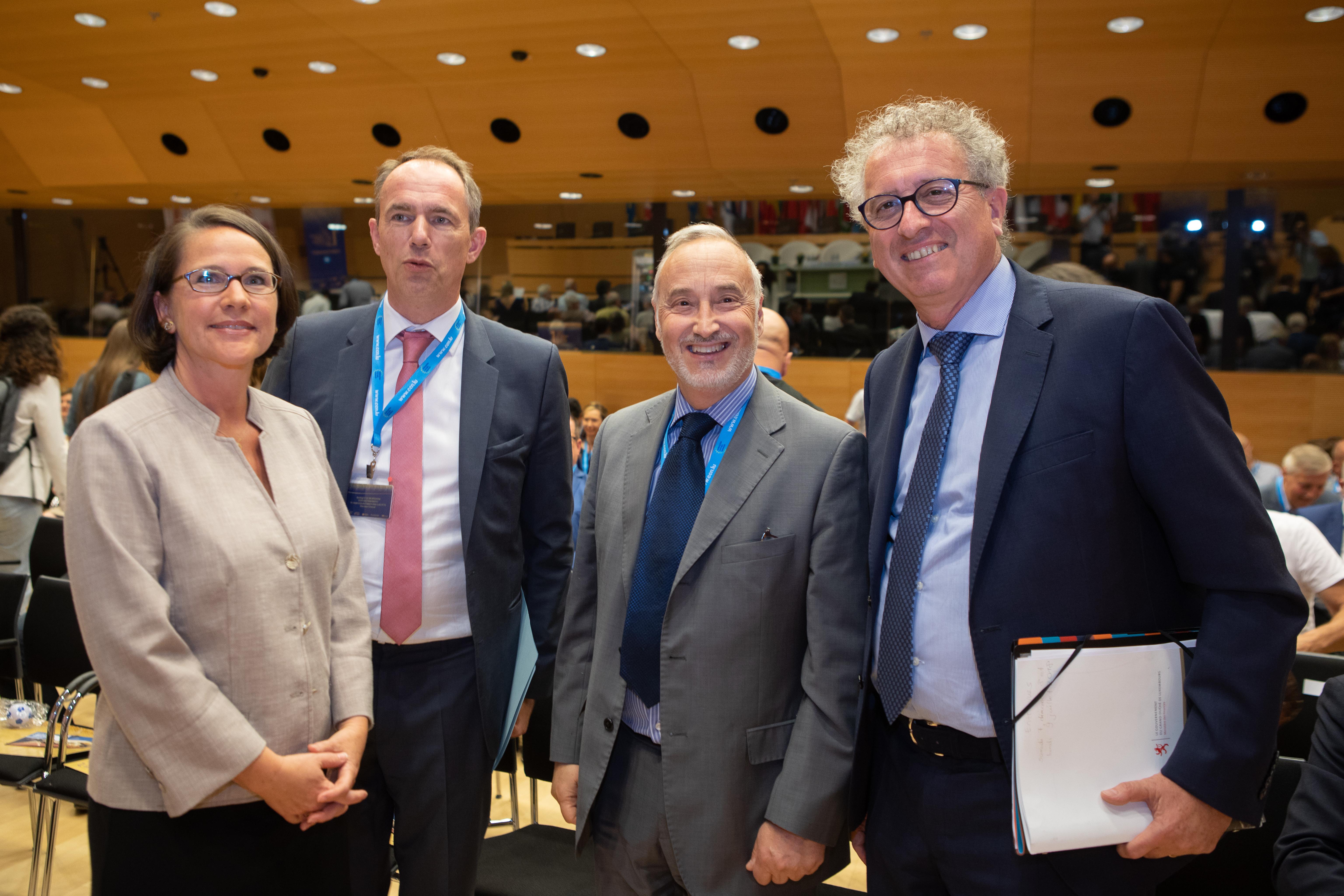 Yuriko Backes (Commission européenne), Giacomo Mattino (Entreprise Europe Network) et Pierre Gramegna (Ministre des Finances) étaient notamment présents