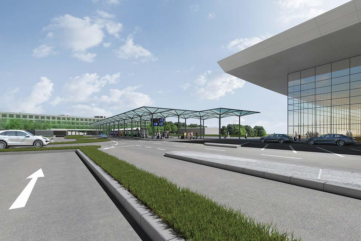 Des aménagements rendus possibles par la connexion, à partir de 2021, du tram à l'aéroport.