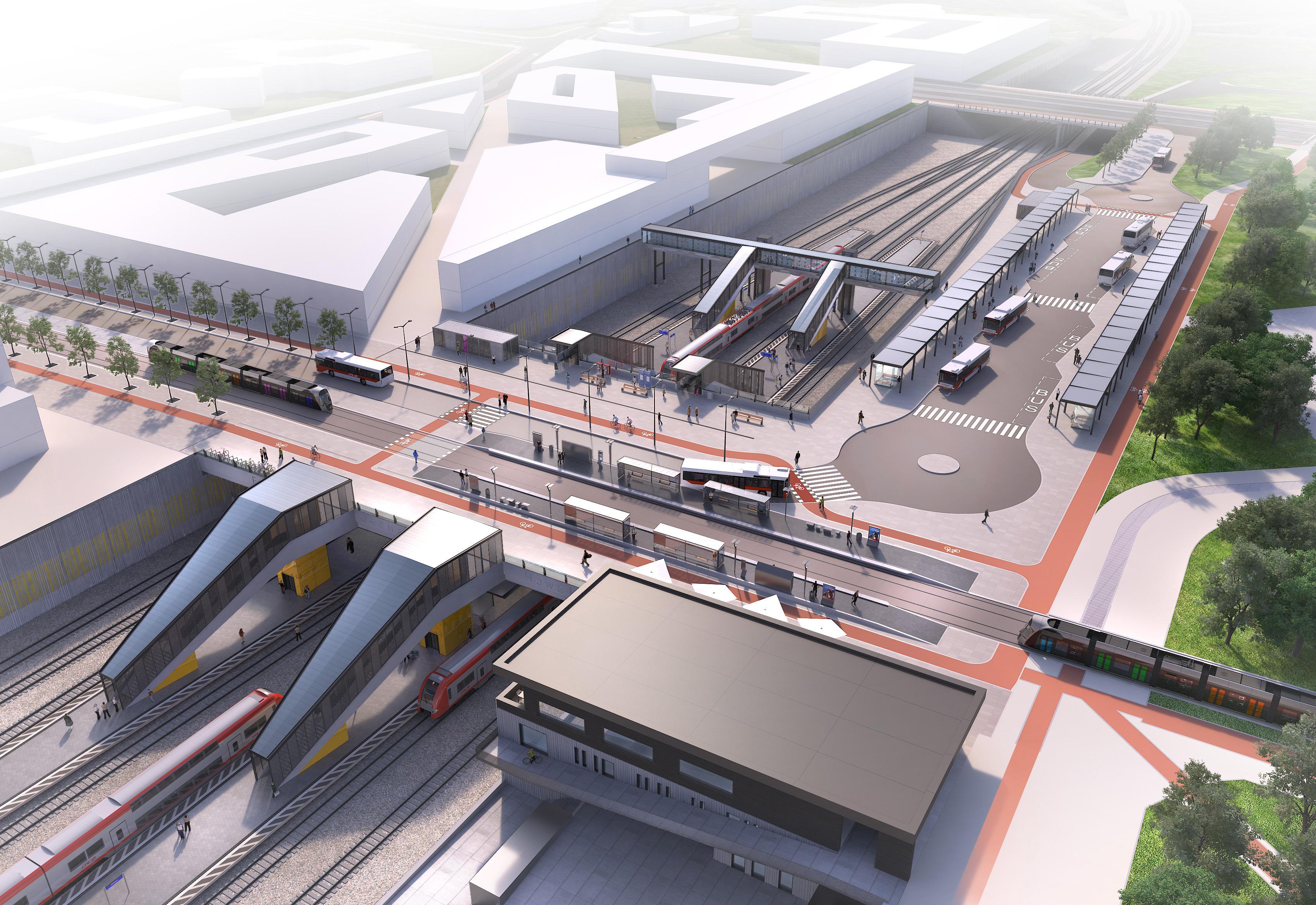 Après le Lycée de Bonnevoie, le deuxième pôle multimodal du tronçon sera la nouvelle gare d'Howald.