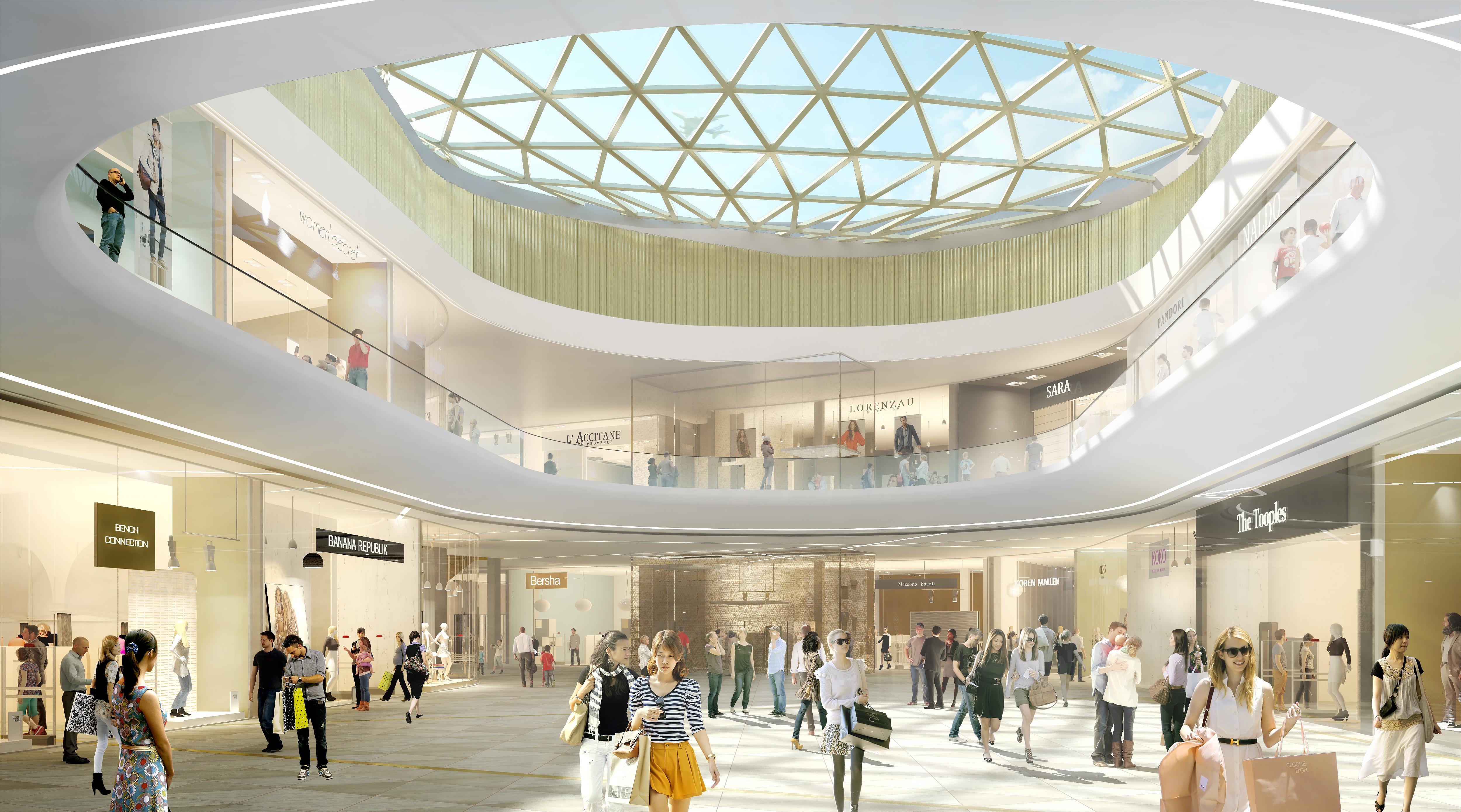 120 boutiques, un hypermarché de 12.500 m2 et 15 restaurants doivent prendre place dans la nouvelle structure qui doit ouvrir fin 2018, début 2019. (Crédit: LCO)