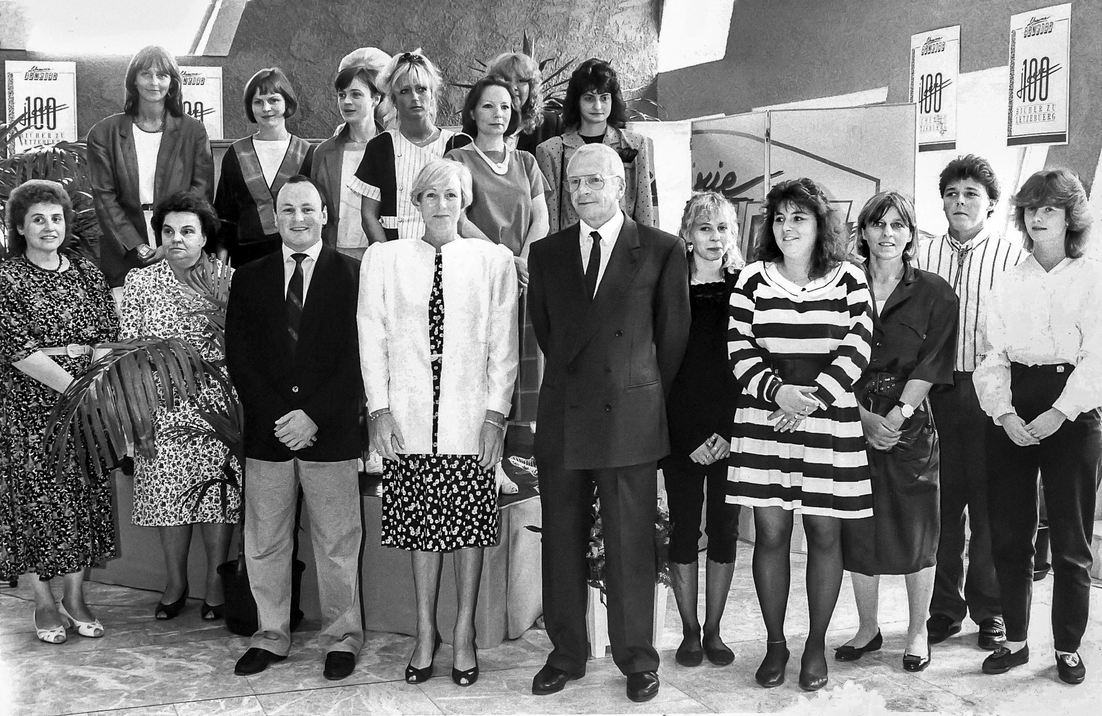 Réunion de famille pour le centenaire de la librairie au Grand Théâtre (1989).