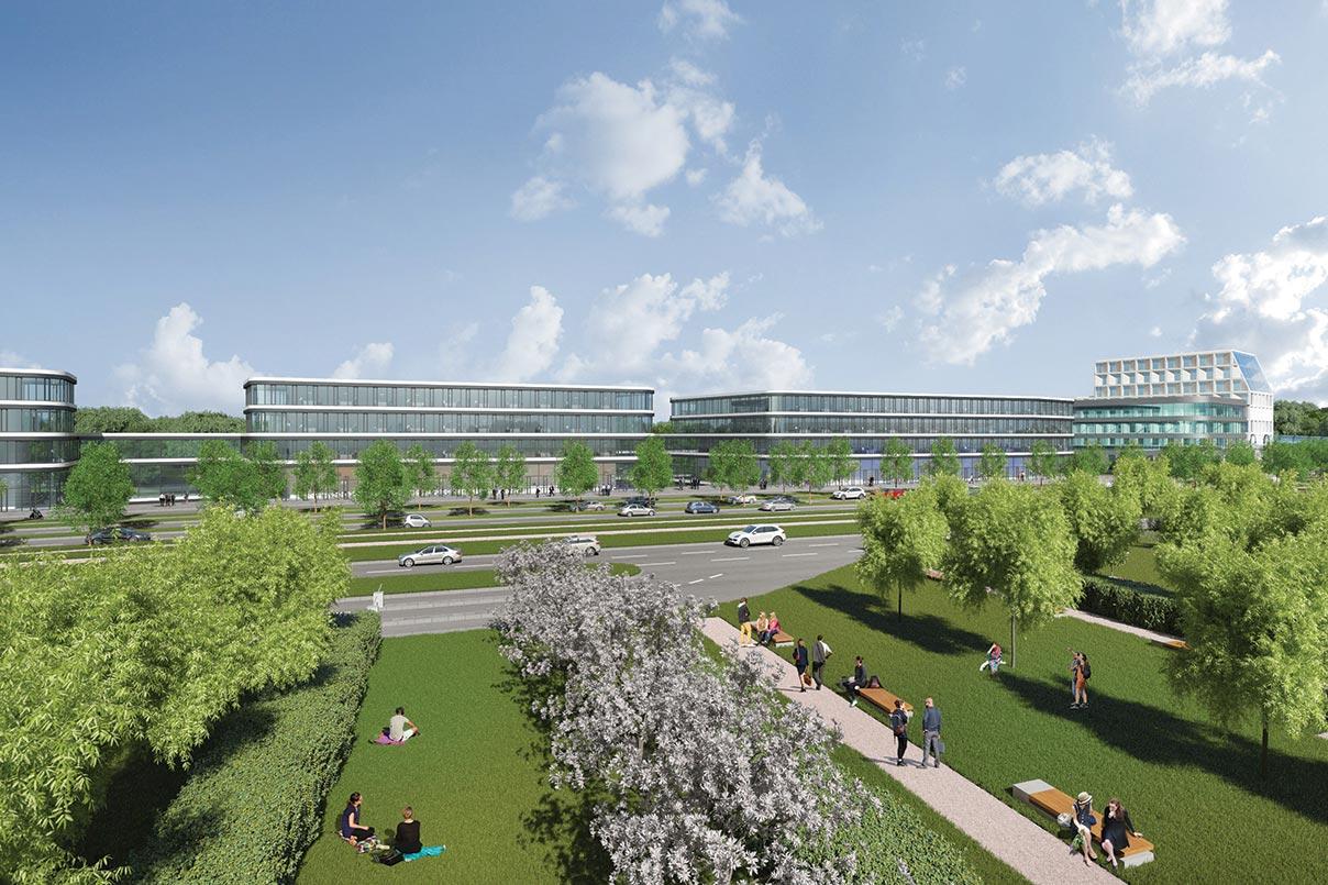 Un business center sera également créé, auquel sera accolé un hôtel de quelque 200 chambres, équipé d'un bar panoramique.