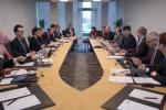 Au sommet: De nombreux visages connus autour de la table ovale du conseil d'administration de la Bourse de Luxembourg, dont le directeur général de la Chambre de commerce, Carlo Thelen, la directrice générale de la BCEE, Françoise Thoma, ou encore l'ancie