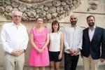 Guy Arendt (ministère de la Culture), S.A.R. la Grande-Duchesse héritière Stéphanie de Lannoy, Laurianne Bixhain et Pasha Rafyi (artistes), S.A.R. le grand-duc héritier Guillaume de Nassau