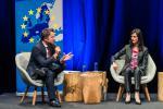 Xavier Bettel (Premier ministre, ministre des Communications et des Médias) et Mariya Gabriel (Commissaire européenne chargée de l'économie et la société numériques)