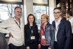 Bernard De Barsy (Architektbüro abplus), Nicoleta Puscasu (Colliers), Sabrina Charles (Avensis) et Julien Delpy (Paperjam Club)