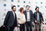 Gilles Chanial (Les Films Fauves), Vanessa Leiriz et Alexandre Gibert (Soundastic) et Govinda Van Maele (réalisateur)