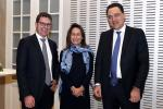 Léon Kirch (European Capital Partners), Dr. Sybille Peter (Colombo Wealth Management) et Stanislas Bernard (Twenty First Capital)