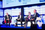 Sean Chinnock (Clearstream), Raoul Mulheims (Finologee), Thibault de Barsy (Keytrade Bank) et Pascal Denis (KPMG Luxembourg)
