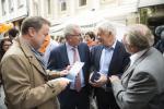 Surprise. Rencontre importante avec son adversaire Claude Wiseler du CSV, avec Pierre Gramegna (DP) et Mars di Bartolomeo (LSAP) comme témoins. Les deux hommes pensaient-ils finir par s'entendre?