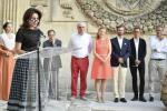 Florence Reckinger au vernissage Flux Feelings à Arles
