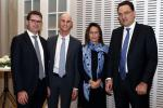 Léon Kirch (European Capital Partners), Lennart Duschinger (EC21), Dr. Sybille Peter (Colombo Wealth Management) et Stanislas Bernard (Twenty First Capital)