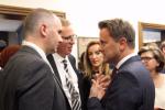 Mark Shaw (Wildgen), François Brouxel (Wildgen), Samia Rabia (Wildgen) et Xavier Bettel (Premier ministre)