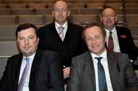 De gauche à droite: Vincent Lebrun, Maarten Verjans, Laurent Probst et David Roach.