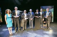Amal Choury et les lauréats 2015