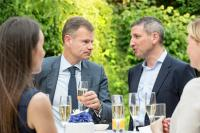 Philippe Sergiel, partner, PWC (left) with Dmitry Larin, Head of RCB Bank, Luxembourg Branch.