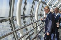 S.A.R. le Grand-Duc et Étienne Schneider au Skytree de Tokyo