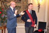 Charles Michel, Premier ministre du royaume de Belgique ; Xavier Bettel, Premier ministre, ministre d'État