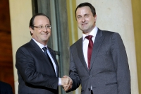 François Hollande, Xavier Bettel, visite officielle, Luxembourg