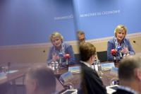 La secrétaire d'État à l'économie, Francine Closener, et le ministre des Finances Pierre Gramegna ont présenté une campagne élaborée par leurs agences de promotion respectives.