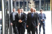 Manuel Valls, Premier ministre français et Werner Hoyer, président de la BEI.