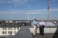 Jean-Jacques Rommes (administrateur délégué de l'Union des entreprises luxembourgeoises) et Patrick Dury (président national du syndicat LCGB) échangent sans concession, mais avec respect, sur les grands dossiers sociaux du moment