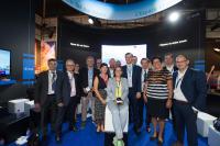 Mathias Link (à gauche), membre du ministère de l'Économie, figure parmi les cofondateurs du concours de l'ESA, baptisé Space Exploration Masters et présenté au Salon du Bourget 2017.