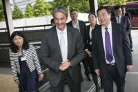 Jeannot Erpelding accueillait lundi le vice-Gouverneur de la province du Henan, Shu Qing.
