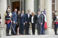 Charles Michel, Xavier Bettel et Emmanuel Macron