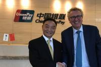 Shi Wenchao, président de China Union Pay avec le ministre Pierre Gramegna