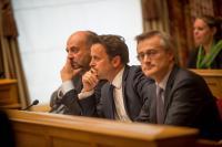Etienne Schneider, Xavier Bettel et Felix Braz: un trio que 45% des électeurs ne souhaitent pas reconduire.