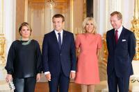 Les chefs d'État français et luxembourgeois