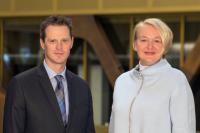 Troy Bishop et Frauke Oddone, KPMG Luxembourg.
