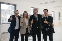 De gauche à droite: Patrick Goldschmidt, échevin en charge du développement urbain, Lydie Polfer, bourgmestre de Luxembourg-ville, Pierre Gramegna, ministre des Finances, et Carlo Thelen, directeur de la Chambre de commerce.