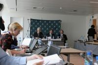 Une conférence de presse organisée par l'Icann, autorité de tutelle d'internet.