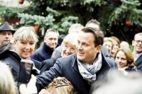 Bain de foule pour Xavier Bettel