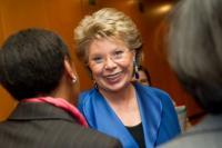 Viviane Reding sera tête de liste CSV pour les prochaines élections européennes.