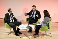 David Demulier, Dr. Mohammed Kroessin (Islamic Relief Worldwide) et Fadoua Boudiba (Triodos)