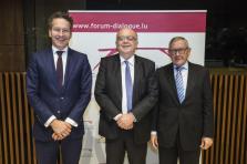 Jeroen Dijsselbloem, Klaus Regling et Gaston Reinesch