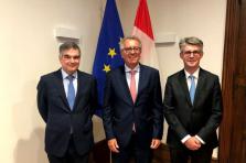 De gauche à droite: Claude Marx, Pierre Gramegna et Marco Zwick.